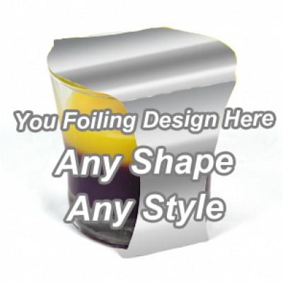 Silver Foiling - Cup Jar Sleeve Packaging