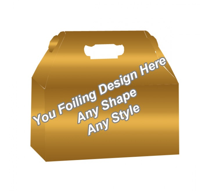 Golden Foiling - Custom Packaging Boxes