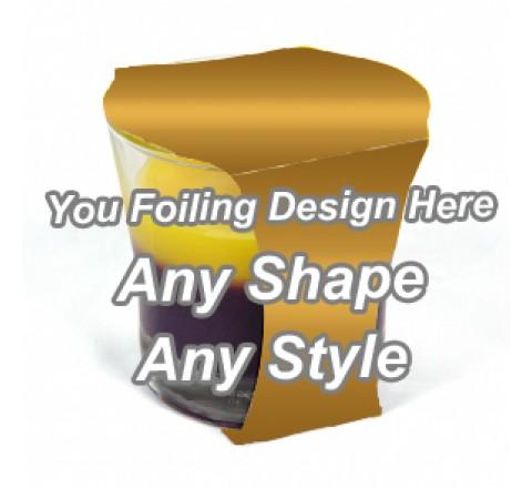 Golden Foiling - Cup Jar Sleeve Packaging
